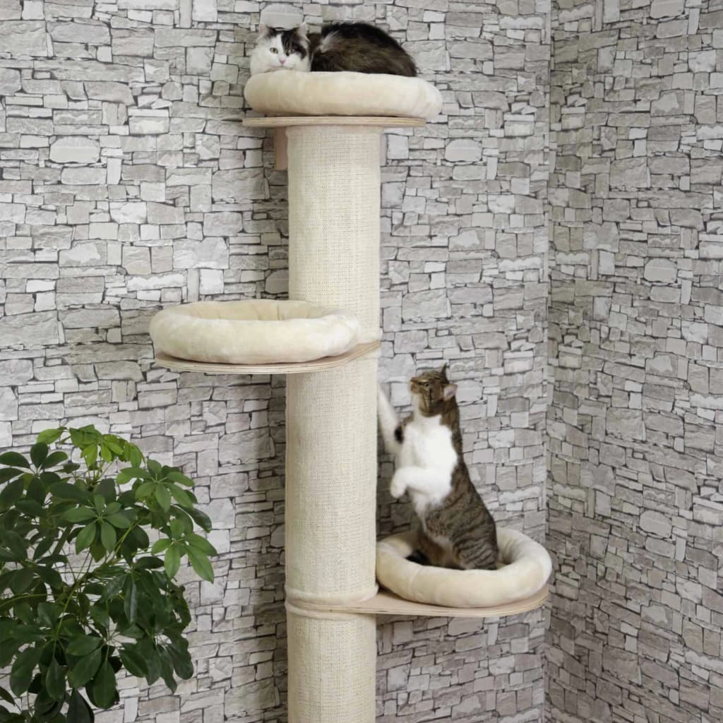 Kerbl Ansamblu pentru pisici Dolomit Tower, bej, 187 cm vidaxl.ro