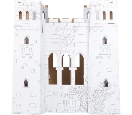 Maison de jeu en carton à colorier 'Chateau-fort'[2/3]