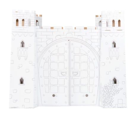 Maison de jeu en carton à colorier 'Chateau-fort'[3/3]