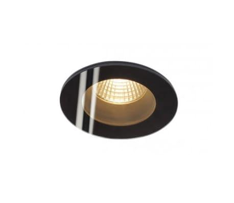 PATTA-F encastré plafond, rond, noir, 12W, 3000K, 38°, alim incluse[1/2]