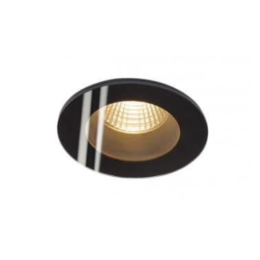 PATTA-F encastré plafond, rond, noir, 12W, 3000K, 38°, alim incluse[2/2]