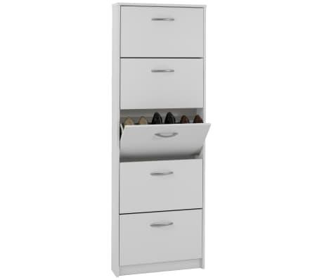 FMD Mueble zapatero con 5 compartimentos basculantes blanco 411-005[1/3]