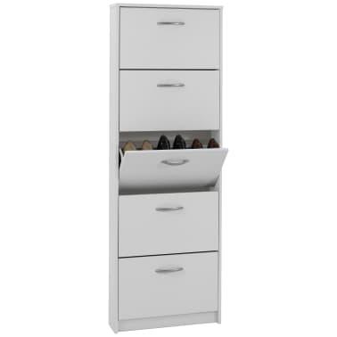 FMD Mueble zapatero con 5 compartimentos basculantes blanco 411-005[2/3]