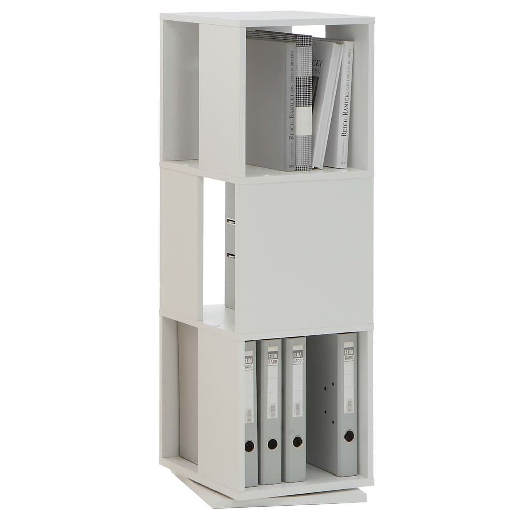 FMD Dulap rotativ dosare, alb, 34x34x108 cm, deschis vidaxl.ro