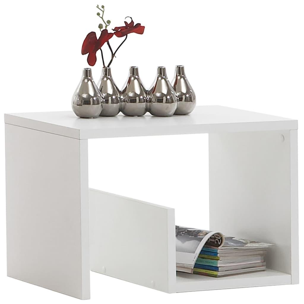 Afbeelding van FMD Salontafel 2-in-1 59,1x35,8x37,8 cm wit