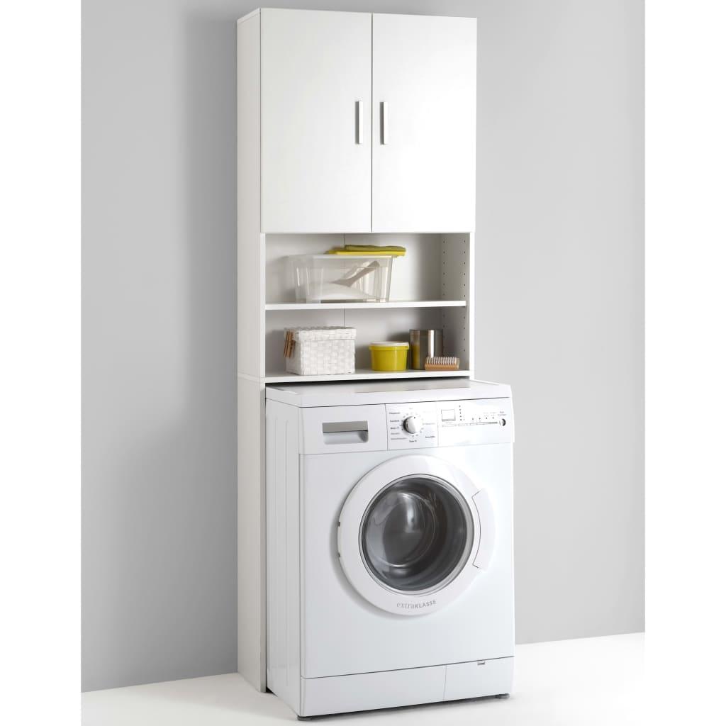 FMD Dulap pentru mașina de spălat cu spațiu de stocare, alb, 913-001 vidaxl.ro