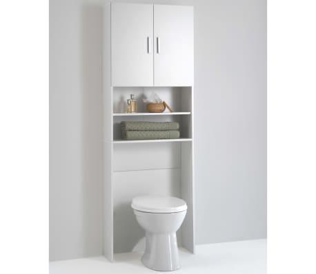 FMD Meuble pour machine à laver avec espace de rangement Blanc 913-001[2/3]