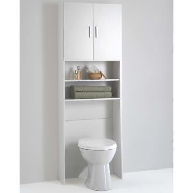 acheter fmd meuble pour machine laver avec espace de rangement blanc 913 001 pas cher. Black Bedroom Furniture Sets. Home Design Ideas
