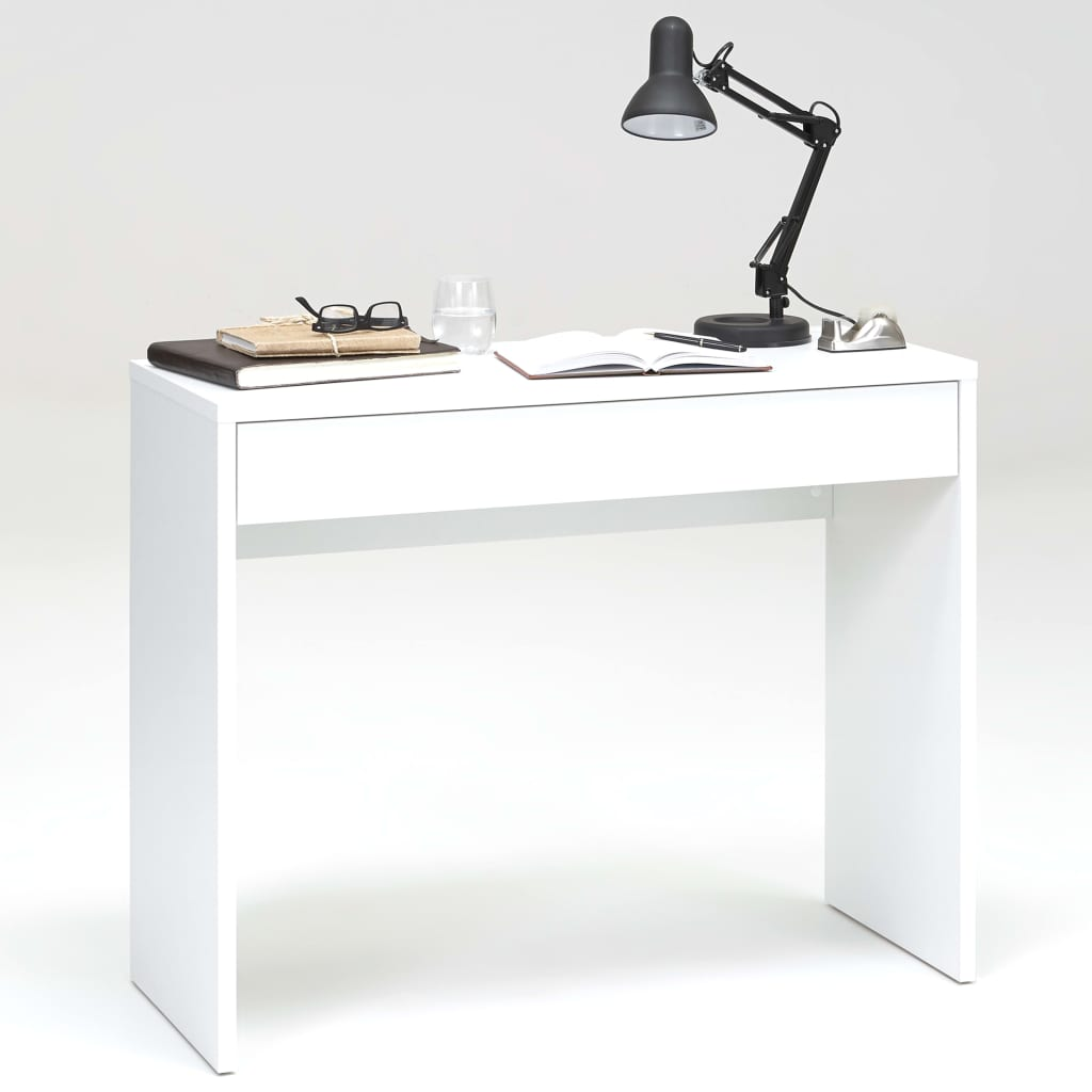 Afbeelding van FMD Bureau met brede lade 100x40x80 cm wit 362-001