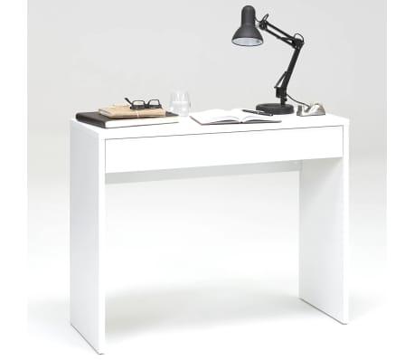 FMD Bureau avec grand tiroir 100 x 40 x 80 cm Blanc 362-001
