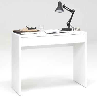 FMD Bureau avec grand tiroir 100 x 40 x 80 cm Blanc 362-001[1/3]