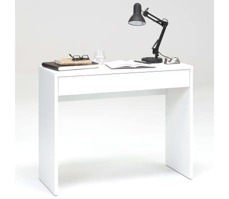 FMD Bureau avec grand tiroir 100 x 40 x 80 cm Blanc 362-001[2/3]