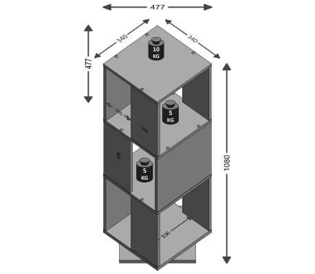 FMD Classeur rotatif ouvert 34 x 34 x 108 cm Chêne sable[2/3]