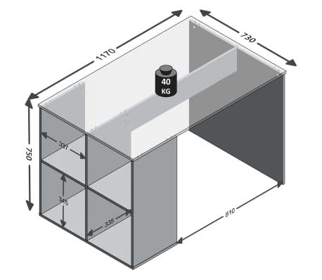 FMD Miza s stranskimi policami 117x73x75 cm peščeni hrast[4/4]