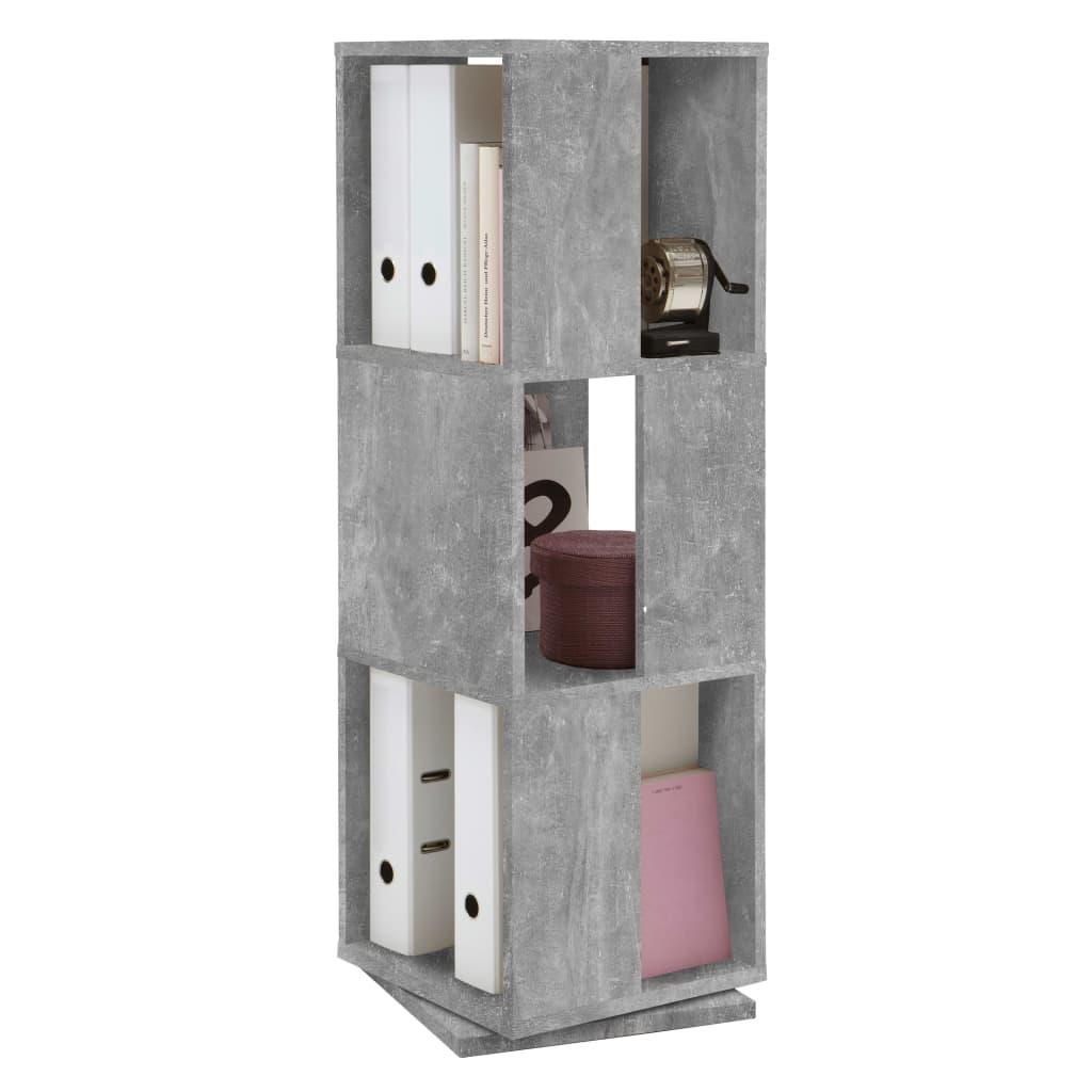 FMD Dulap rotativ dosare, gri beton, 34x34x108 cm, deschis imagine vidaxl.ro