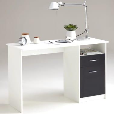 FMD Bureau met 1 lade 123x50x76,5 cm wit en zwart 3004-001[1/5]