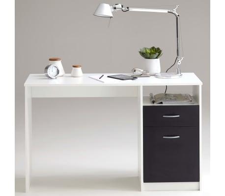 FMD Bureau met 1 lade 123x50x76,5 cm wit en zwart 3004-001[3/5]