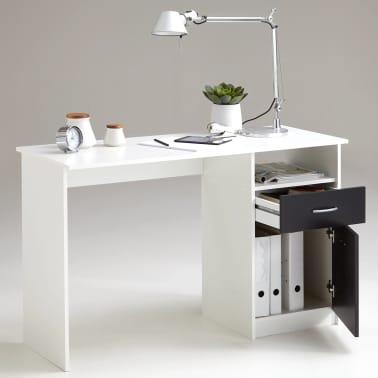 FMD Bureau met 1 lade 123x50x76,5 cm wit en zwart 3004-001[2/5]