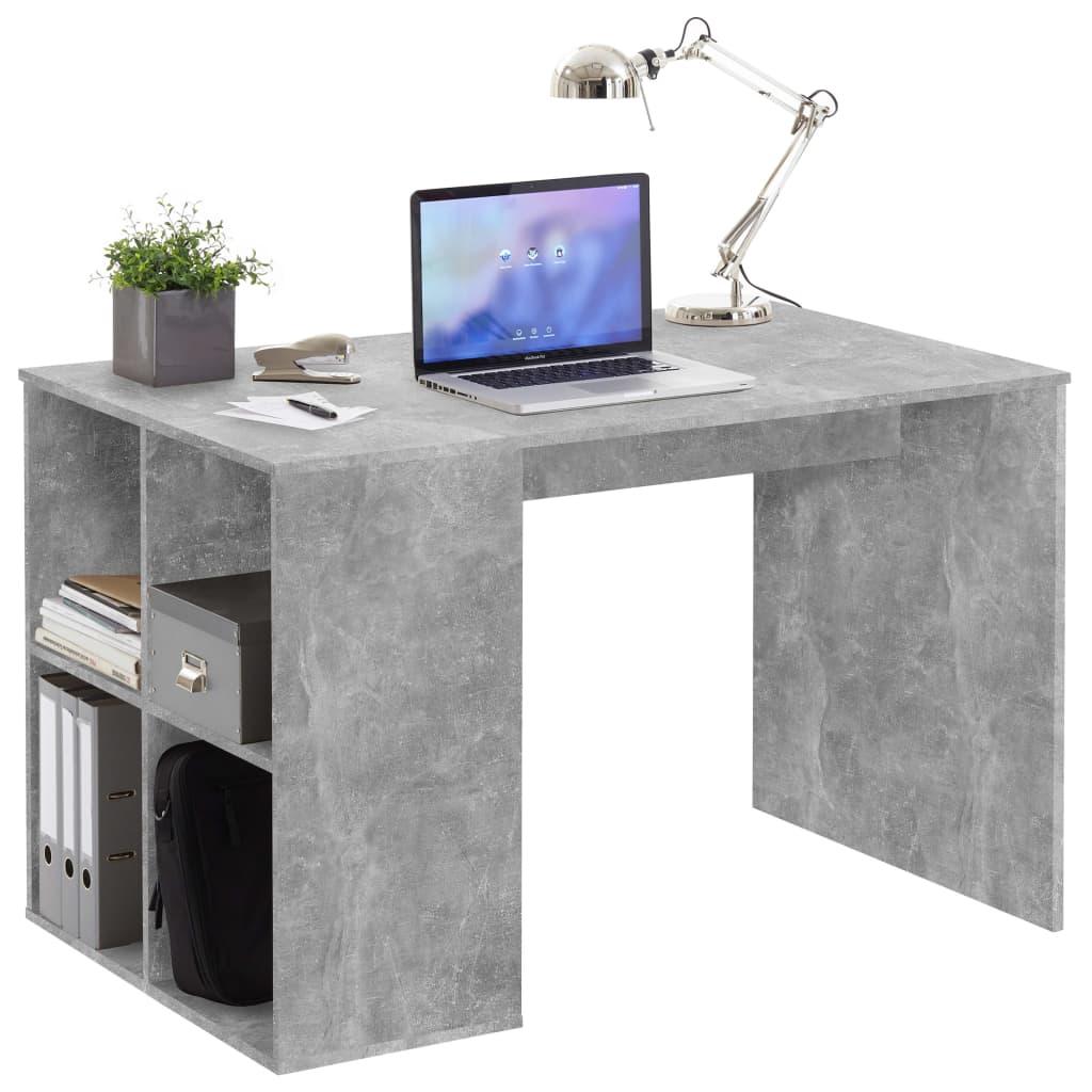FMD Γραφείο με Πλευρικά Ράφια 117x73x75 εκ. Χρώμα του Σκυροδέματος
