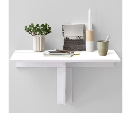 FMD Prie sienos mont. sulankstomas staliukas, baltos sp.[2/4]