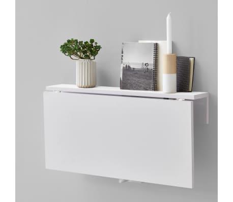 FMD Prie sienos mont. sulankstomas staliukas, baltos sp.[3/4]