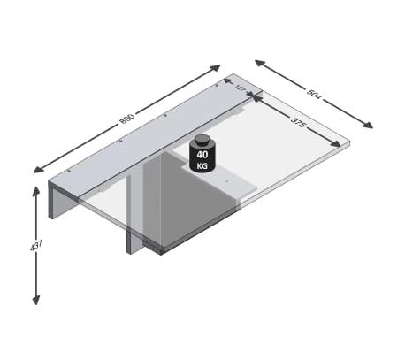 FMD Prie sienos mont. sulankstomas staliukas, baltos sp.[4/4]