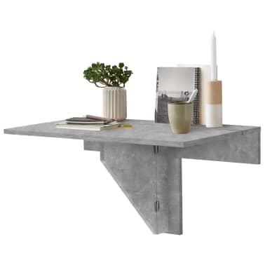 FMD Prie sienos mont. sulankstomas staliukas, betono sp.[1/6]
