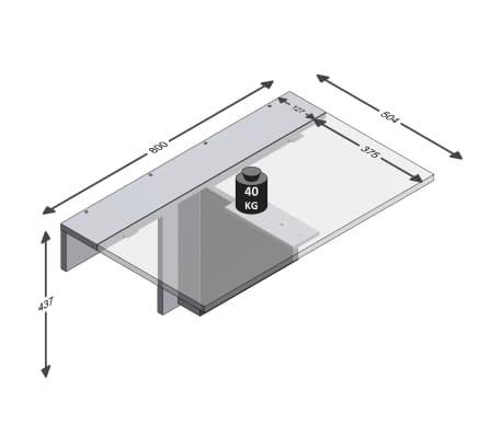 FMD Prie sienos mont. sulankstomas staliukas, betono sp.[5/6]