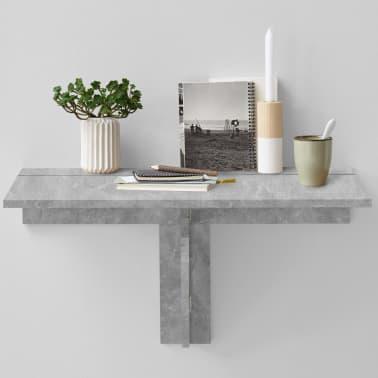 FMD Prie sienos mont. sulankstomas staliukas, betono sp.[2/6]