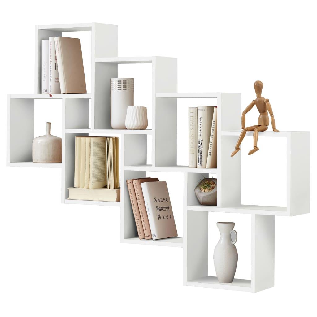 Afbeelding van FMD Wandschap met 11 vakken wit