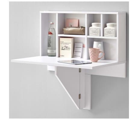 FMD Prie sienos mont. sulankst. staliukas su lentyna, baltas, 658-002[1/4]