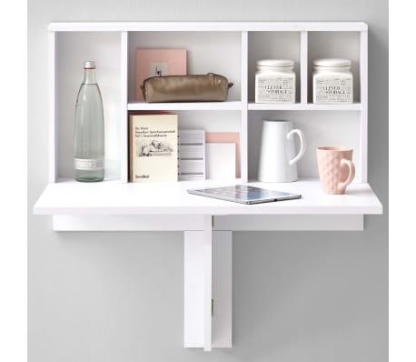 FMD Prie sienos mont. sulankst. staliukas su lentyna, baltas, 658-002[2/4]