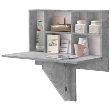 FMD Prie sienos mont. sulankst. staliukas su lentyna, betono sp.[1/6]