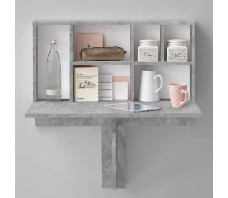 FMD Prie sienos mont. sulankst. staliukas su lentyna, betono sp.[2/6]
