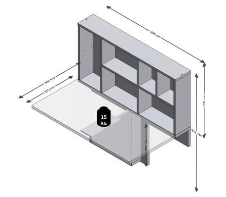 FMD Prie sienos mont. sulankst. staliukas su lentyna, betono sp.[5/6]