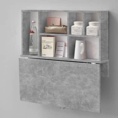 FMD Prie sienos mont. sulankst. staliukas su lentyna, betono sp.[3/6]