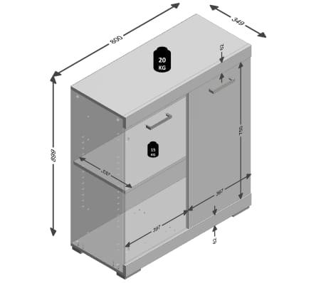 FMD Armoire avec 2 portes 80 x 34,9 x 89,9 cm Chêne 4020-001[5/5]