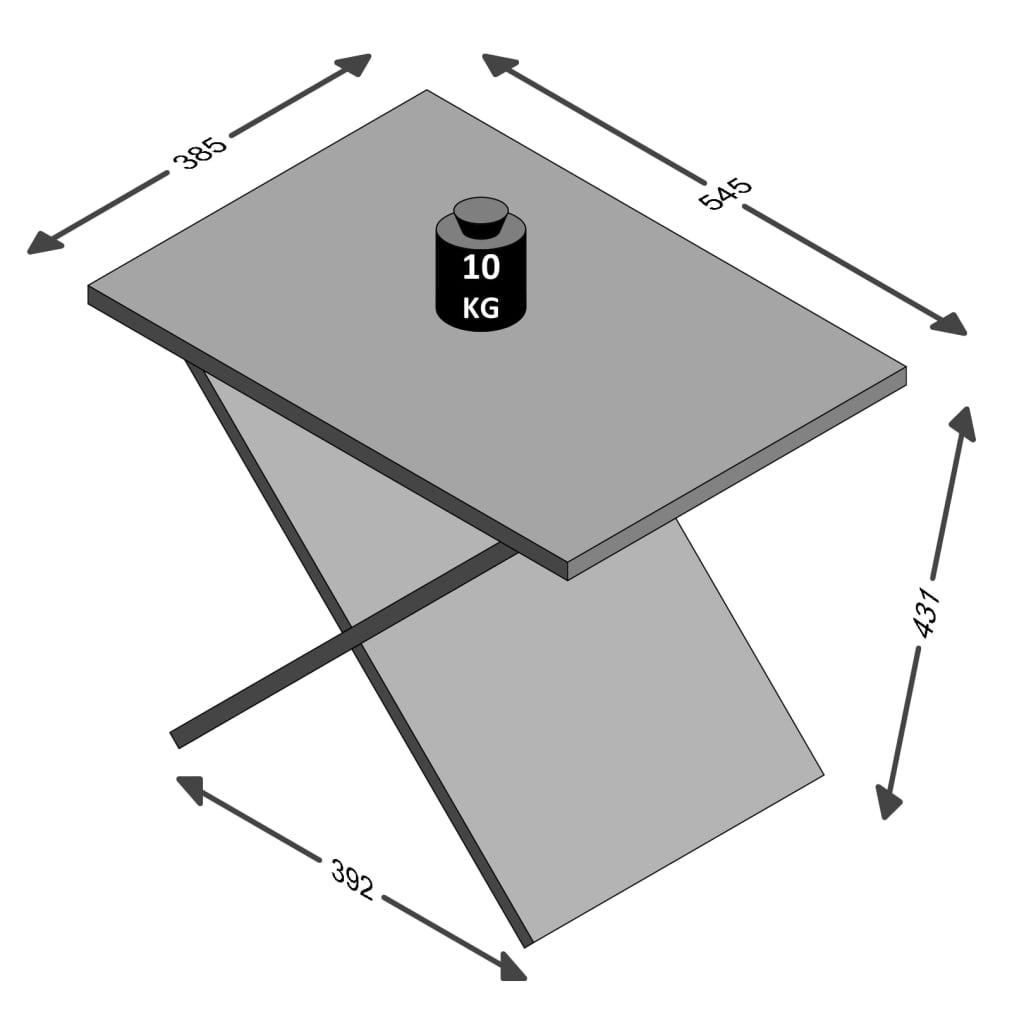 FMD Salontafel eikenkleurig