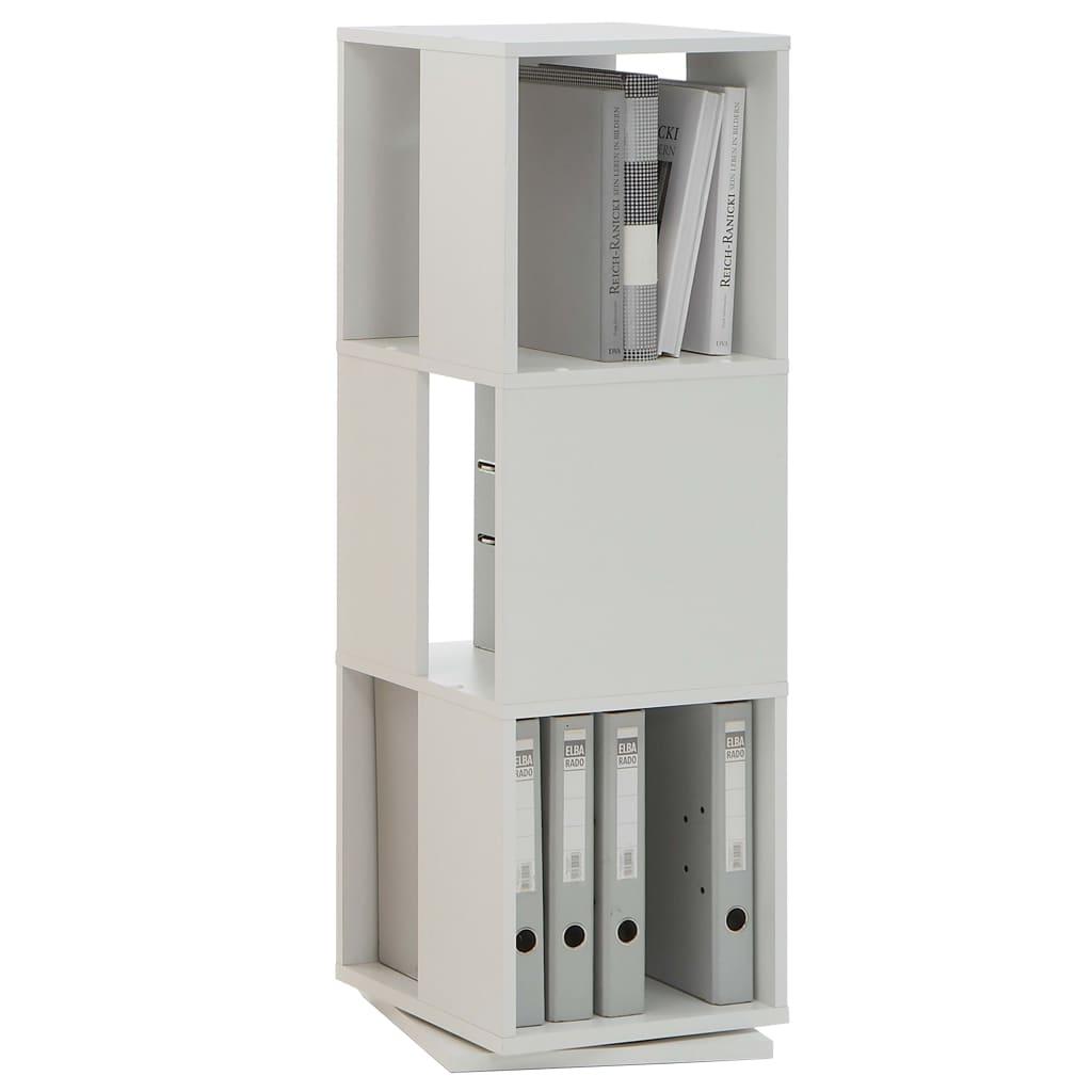 FMD Dulap rotativ de dosare deschis, alb, 34 x 34 x 108 cm vidaxl.ro