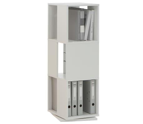 FMD Classeur rotatif ouvert 34 x 34 x 108 cm Blanc[1/2]