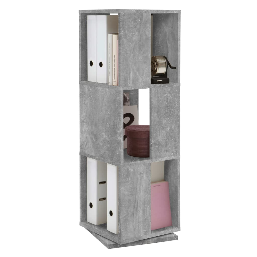 FMD Dulap rotativ de dosare deschis, gri beton, 34x34x108 cm imagine vidaxl.ro