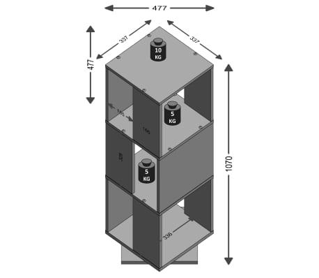 FMD Classeur rotatif ouvert 34x34x107 cm Chêne antique[2/2]
