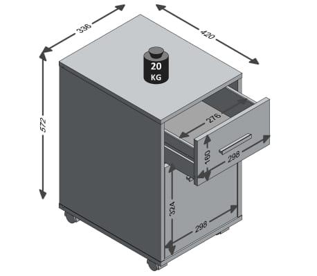FMD Armoire mobile à tiroir Couleur chêne et blanc[4/4]