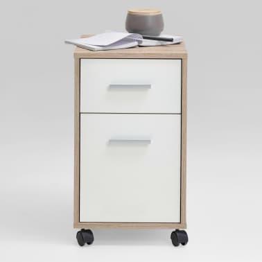 FMD Armoire mobile à tiroir Couleur chêne et blanc[2/4]