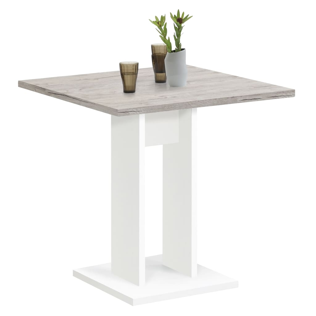 FMD Jídelní stůl 70 cm pískový dub a bílý