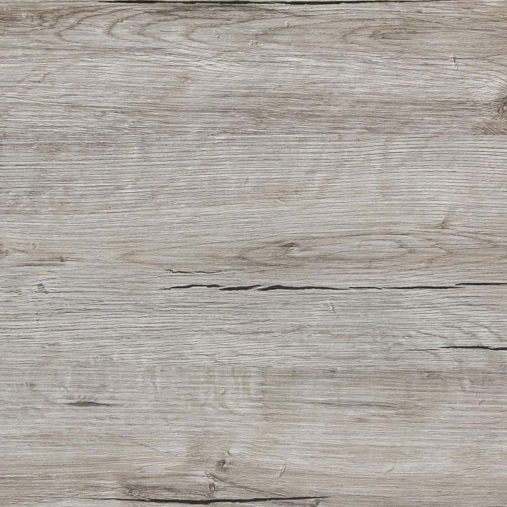 FMD Eettafel 70 cm zandeikenkleurig en wit