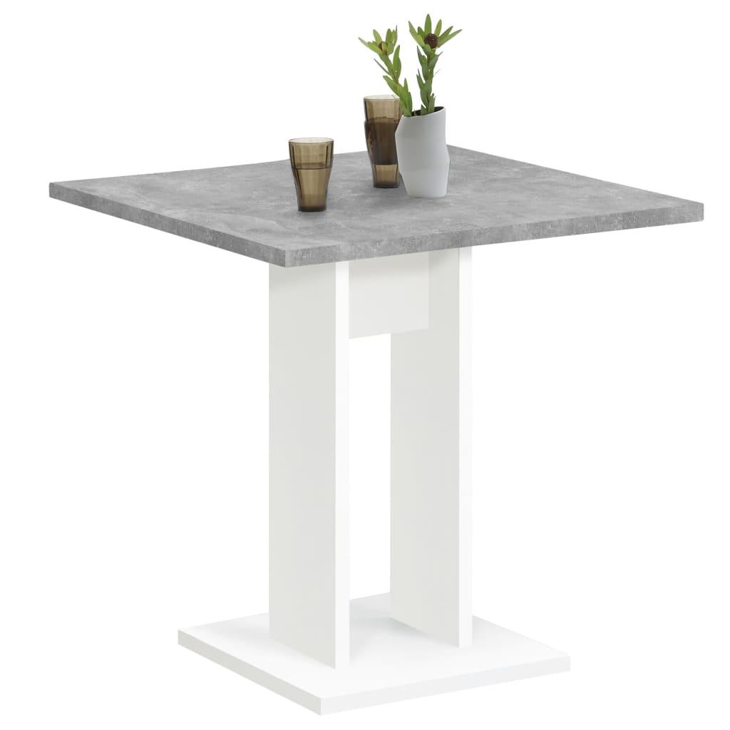 FMD Jídelní stůl 70 cm betonově šedý a bílý