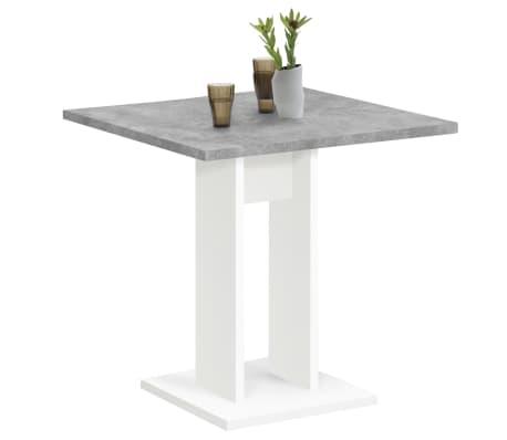 FMD Jedálenský stolík 70 cm betónovo-sivý a biely