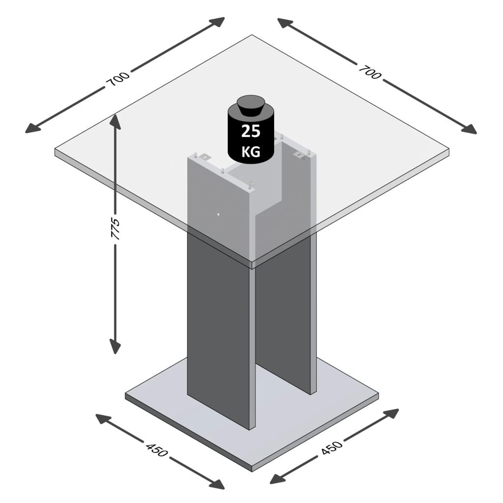 FMD Eettafel 70 cm wit