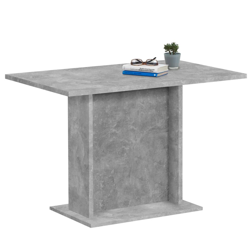 FMD Masă de bucătărie, gri beton, 110 cm vidaxl.ro